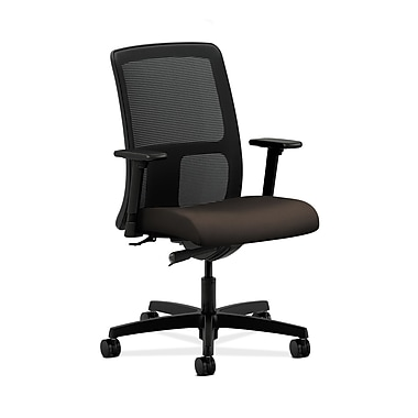HON® Ignition Low-Back Mesh Task Chair, Synchro-Tilt, Adjustable Arms, Espresso Fabric