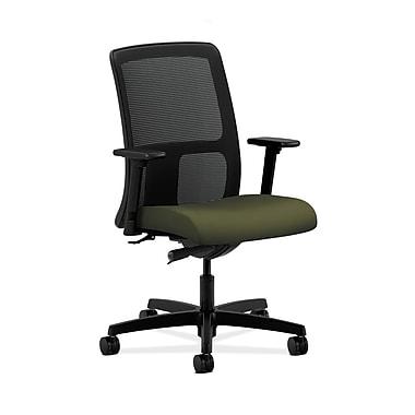 HON® Ignition Low-Back Mesh Task Chair, Synchro-Tilt, Adjustable Arms, Olivine Fabric