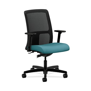 HON® Ignition Low-Back Mesh Task Chair, Synchro-Tilt, Adjustable Arms, Glacier Fabric