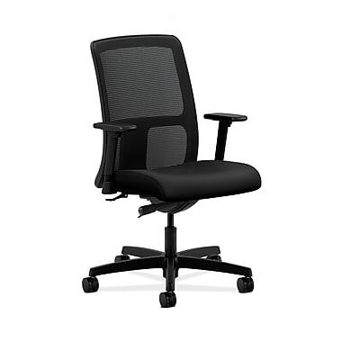 HON® Ignition Low-Back Mesh Task Chair, Synchro-Tilt, Adjustable Arms, Contourett Polyurethane Black