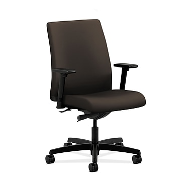 HON® Ignition Low-Back Task Chair, Synchro-Tilt, Adjustable Arms, Espresso Fabric