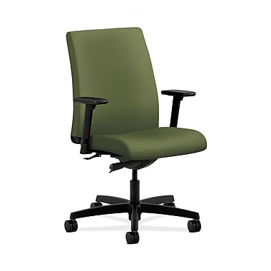HON® Ignition Low-Back Task Chair, Synchro-Tilt, Adjustable Arms, Clover Fabric