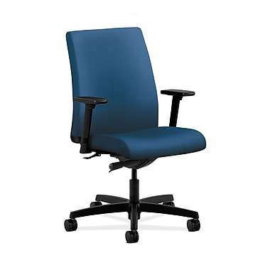 HON® Ignition Low-Back Task Chair, Synchro-Tilt, Adjustable Arms, Regatta Fabric