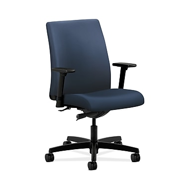 HON® Ignition Low-Back Task Chair, Synchro-Tilt, Adjustable Arms, Ocean Fabric