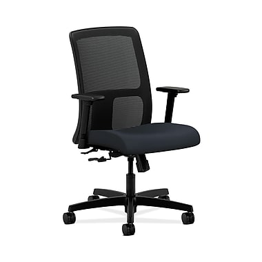 HON® Ignition Low-Back Mesh Task Chair, Center-Tilt, Adjustable Arms, Navy Fabric