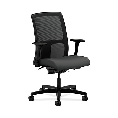 HON® Ignition Low-Back Mesh Task Chair, Synchro-Tilt, Back Angle, Adjustable Arms, Iron Ore Fabric