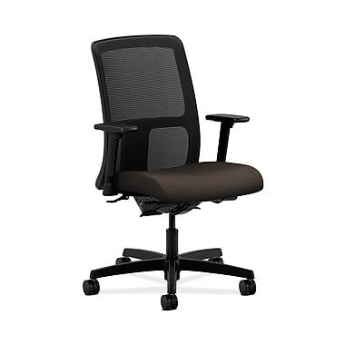 HON® Ignition Low-Back Mesh Task Chair, Synchro-Tilt, Back Angle, Adjustable Arms, Espresso Fabric