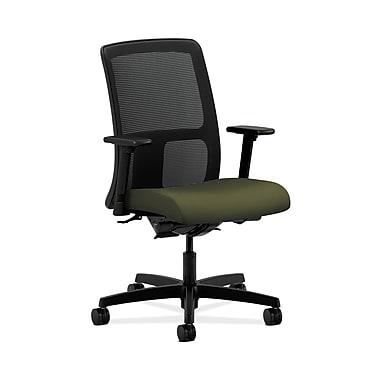 HON® Ignition Low-Back Mesh Task Chair, Synchro-Tilt, Back Angle, Adjustable Arms, Olivine Fabric