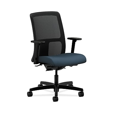 HON® Ignition Low-Back Mesh Task Chair, Synchro-Tilt, Back Angle, Adjustable Arms, Cerulean Fabric