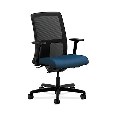 HON® Ignition Low-Back Mesh Task Chair, Synchro-Tilt, Back Angle, Adjustable Arms, Regatta Fabric