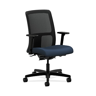 HON® Ignition Low-Back Mesh Task Chair, Synchro-Tilt, Back Angle, Adjustable Arms, Ocean Fabric