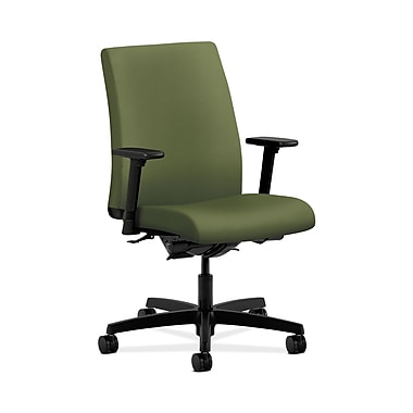 HON® Ignition Low-Back Task Chair, Synchro-Tilt, Back Angle, Adjustable Arms, Clover Fabric