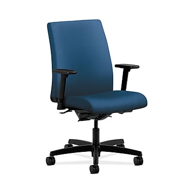 HON® Ignition Low-Back Task Chair, Synchro-Tilt, Back Angle, Adjustable Arms, Regatta Fabric