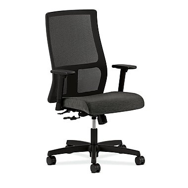 HON® Ignition Mid-Back Mesh Task Chair, Center-Tilt, Adjustable Arms, Onyx Fabric