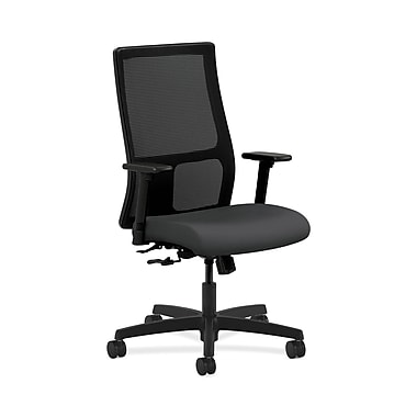 HON® Ignition Mid-Back Mesh Task Chair, Center-Tilt, Adjustable Arms, Carbon Fabric