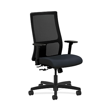 HON® Ignition Mid-Back Mesh Task Chair, Center-Tilt, Adjustable Arms, Navy Fabric
