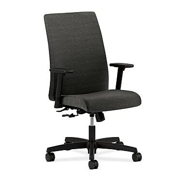 HON® Ignition Mid-Back Task Chair, Center-Tilt, Adjustable Arms, Onyx Fabric