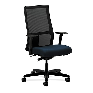 HON Ignition Mid-Back Mesh Task Chair, Synchro-Tilt with Adjustable Arms, Mariner Fabric