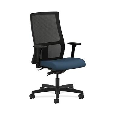 HON® Ignition Mid-Back Mesh Task Chair, Synchro-Tilt, Adjustable Arms, Silvertex Vinyl Jet
