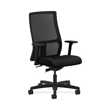 HON® Ignition Mid-Back Mesh Task Chair, Synchro-Tilt, Adjustable Arms, Whisper Vinyl Black