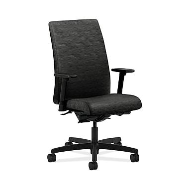 HON® Ignition Mid-Back Task Chair, Synchro-Tilt, Back Angle, Adjustable Arms, Onyx Fabric