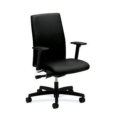 HON Ignition Mid-Back Task Chair, Synchro-Tilt, Back Angle, Black Fabric