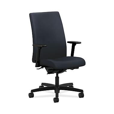 HON® Ignition Mid-Back Task Chair, Synchro-Tilt, Back Angle, Adjustable Arms, Navy Fabric