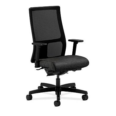 HON® Ignition Mid-Back Mesh Task Chair, Synchro-Tilt, Back Angle, Adjustable Arms, Onyx Fabric