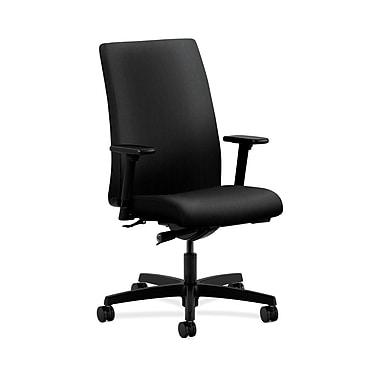 HON® Ignition Mid-Back Task Chair, Synchro-Tilt, Adjustable Arms, Confetti Black Fabric