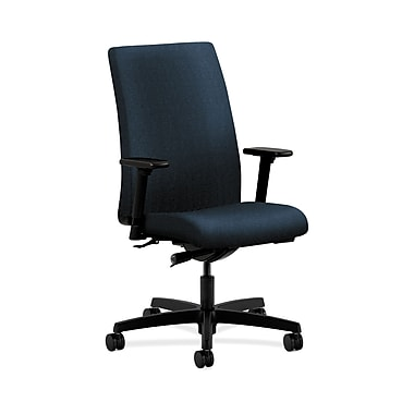 HON® Ignition Mid-Back Task Chair, Synchro-Tilt, Adjustable Arms, Confetti Blue Fabric