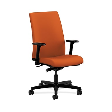 HON® Ignition Mid-Back Task Chair, Synchro-Tilt, Adjustable Arms, Tangerine Fabric