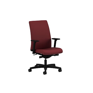HON® Ignition® Mid-Back Fabric Task Chair, Adjustable Arms, Berry