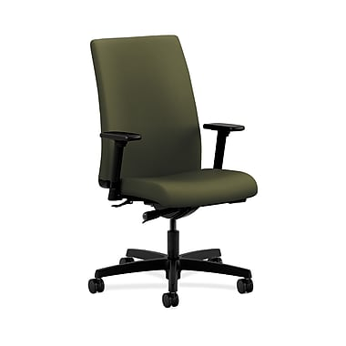 HON® Ignition Mid-Back Task Chair, Synchro-Tilt, Adjustable Arms, Olivine Fabric