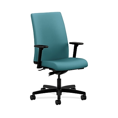 HON® Ignition Mid-Back Task Chair, Synchro-Tilt, Adjustable Arms, Glacier Fabric
