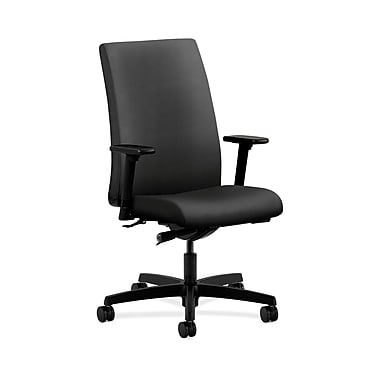 HON® Ignition Mid-Back Task Chair, Synchro-Tilt, Adjustable Arms, Onyx Fabric