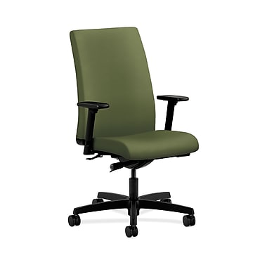 HON® Ignition Mid-Back Task Chair, Synchro-Tilt, Adjustable Arms, Clover Fabric
