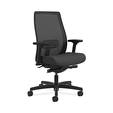 HON® Endorse Mesh Mid-Back Task Chair, Built-In Lumbar, Synchro-Tilt, Seat Glide, Adjustable Arms, Iron Ore Fabric