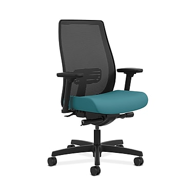 HON® Endorse Mesh Mid-Back Task Chair, Built-In Lumbar, Synchro-Tilt, Seat Glide, Adjustable Arms, Glacier Fabric