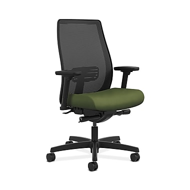 HON® Endorse Mesh Mid-Back Task Chair, Built-In Lumbar, Synchro-Tilt, Seat Glide, Adjustable Arms, Clover Fabric