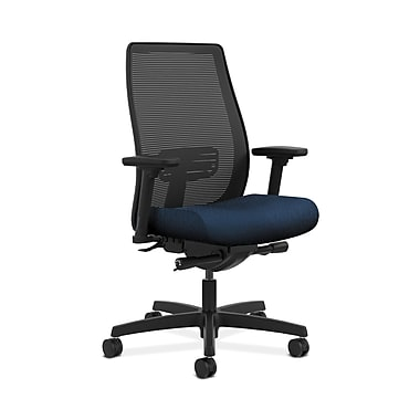 HON® Endorse Mesh Mid-Back Task Chair, Built-In Lumbar, Synchro-Tilt, Seat Glide, Adjustable Arms, Mariner Fabric