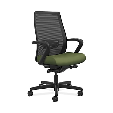 HON® Endorse Mesh Mid-Back Task Chair, Built-In Lumbar, Synchro-Tilt, Seat Glide, Fixed Arms, Clover Fabric