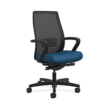 HON® Endorse Mesh Mid-Back Task Chair, Built-In Lumbar, Synchro-Tilt, Seat Glide, Fixed Arms, Regatta Fabric