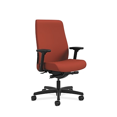 HON® Endorse Mid-Back Task Chair, Built-In Lumbar, Adjustable Arms, Poppy Fabric