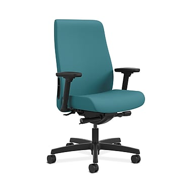 HON® Endorse Mid-Back Task Chair, Built-In Lumbar, Adjustable Arms, Glacier Fabric