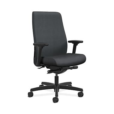 HON® Endorse Mid-Back Task Chair, Built-In Lumbar, Adjustable Arms, Inertia Onyx Fabric