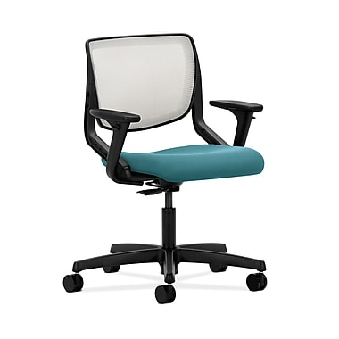 HON® Motivate Task Chair, Fog ilira®-stretch Back, Adjustable Arms, Glacier Fabric
