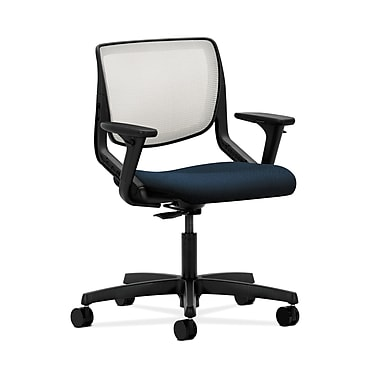HON® Motivate Task Chair, Fog ilira®-stretch Back, Adjustable Arms, Mariner Fabric