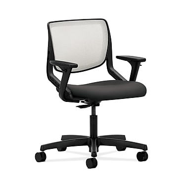 HON® Motivate Task Chair, Fog ilira®-stretch Back, Adjustable Arms, Carbon Fabric