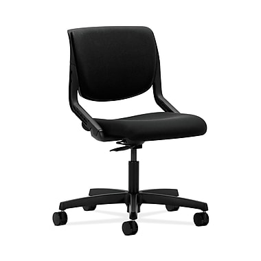 HON® Motivate Task Chair, Upholstered Back, Onyx Shell, Confetti Black Fabric