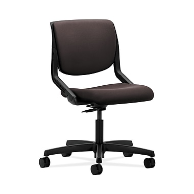 HON® Motivate Task Chair, Upholstered Back, Onyx Shell, Espresso Fabric
